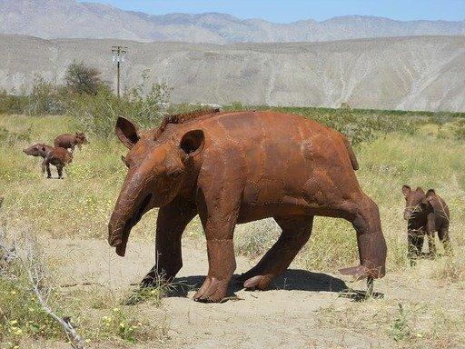 Representacion de tapires durante el mioceno
