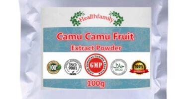 100% extracto Natural de vitamina C Camu Fruit en polvo, fortalece el sistema inmunológico, antioxidantes, antiviral, máscara de consolador cekc