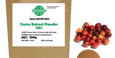 Extracto de Camu en polvo orgánico, 100%, 20 a 1, rico en vitamina C, promueve la actividad antioxidante Camu en polvo