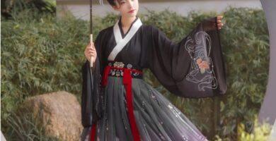 Traje de Hanfu tradicional chino para mujer, bordado, estilo antiguo, popular, puesta en escena, disfraces de baile