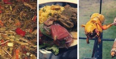 platos tipicos con roedores
