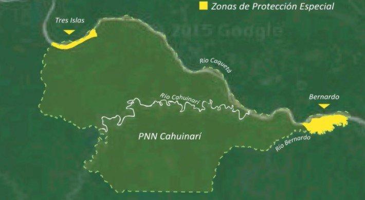zonas de protección especial parque nacional cahuinarí