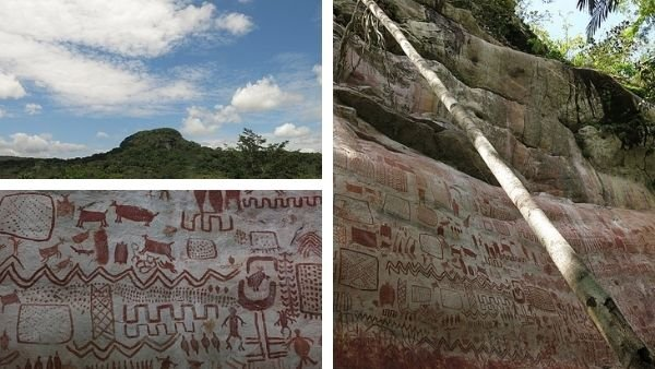 Portada pinturas rupestres serranía de la lindosa parque nacional chiribiquete