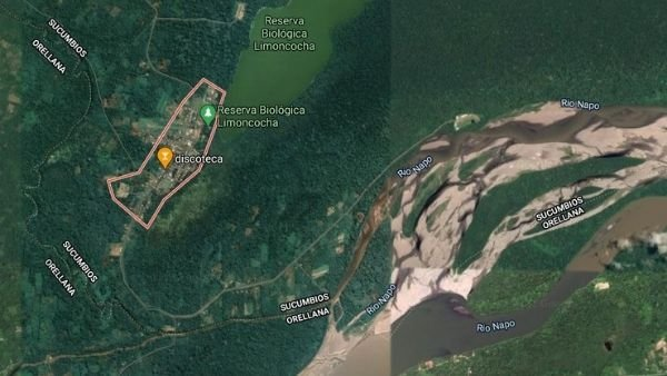 reserva biologica limoncocha vista satelital
